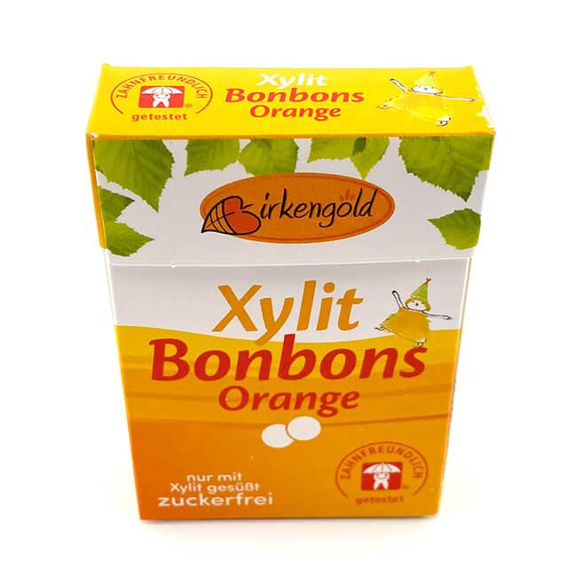 Birkengold Xylit Bonbons Orange ca. 28 Stück