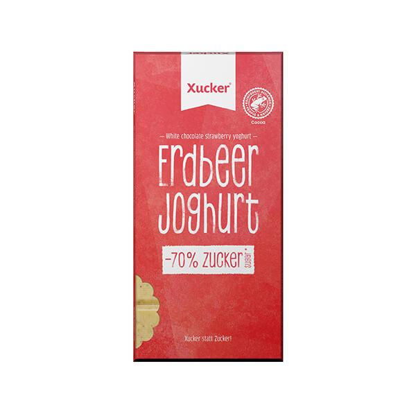 XUCKER Erdbeer Joghurt Schokolade. Zuckerfreie Schokolade von Xucker