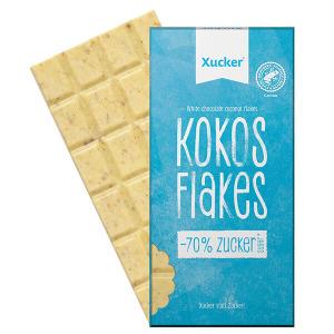 XUCKER Weisse Schokolade mit Kokos und Weizenflakes