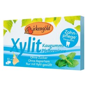 Xylit Kaugummi Pfefferminze, 12 Dragees, Xylit Kaugummi Pfefferminze kaufen! Xylit Kaugummis, Pfefferminze Geschmack, ideal für Zahnpflege, Aspartamfrei