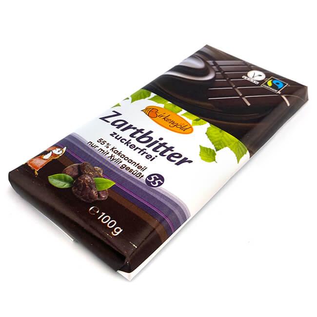 Birkengold Zartbitter Schokolade kalorienreduziert