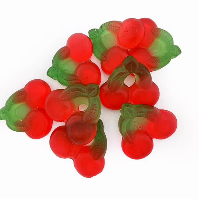 De Bron zuckerfreie Kirschgummis 90 g kaufen. 8 Stück Kirschgummies kaufen. Cherrygums ohne Zucker online kaufen