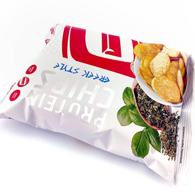 GOT7 Protein Chips Greek Style Beutel 50 g. Protein Chips online kaufen! Fitnesssnack mit 40% Protein! GOT7 High Protein Chips Greek Style online kaufen