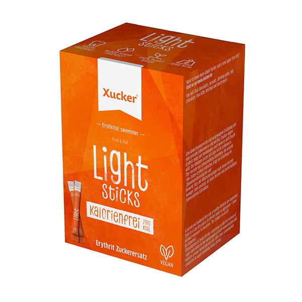 Erythrit Xucker Light Sticks 250 g Packung (50 x 5 g Sticks), XUCKER Light Sticks kaufen (Erythrit)! XUCKER Light, Süßstoff auf der Grundlage von Erythrit!