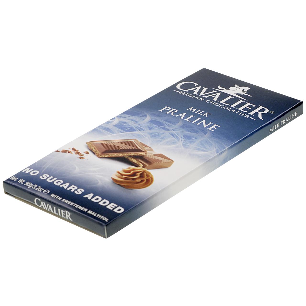 """Cavalier Schokolade """"Milk Praline"""" 90 g, zuckerfreie Schokolade. Schokolade ohne Zucker kaufen, Süßigkeiten ohne Zucker. zuckerfreie Süßigkeiten kaufen."""