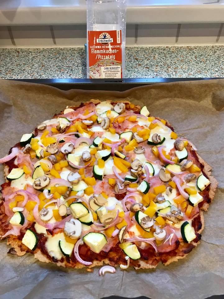 Erdschwalbe Flammkuchen-/Pizzateig Backmischung glutenfrei 150 g Beutel