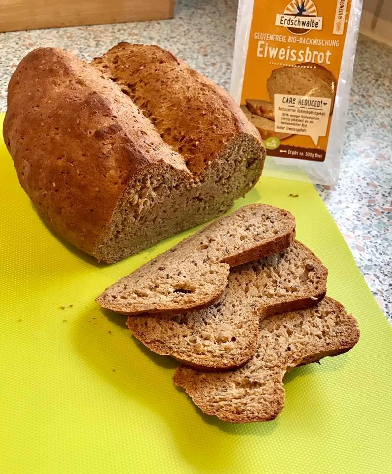 Erdschwalbe Eiweiss-Brot-Backmischung glutenfrei 250 g Beutel