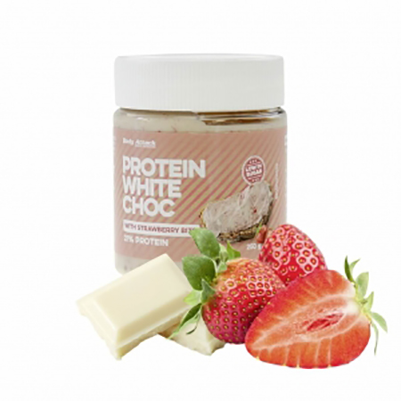 """Body Attack Protein Schoko-Aufstrich """"White Choc Strawberry"""" 250 g"""
