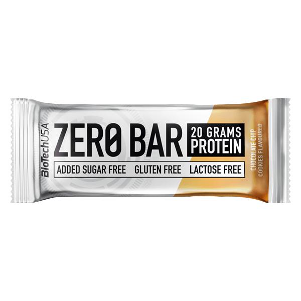 Biotech USA Zero Bar Schokolade-Chip Cookies Proteinriegel 50g. Zero Bar Biotech kaufen. Zuckerfrei mit Whey Isolat Protein. Proteinriegel 45% Eiweiß: 20g