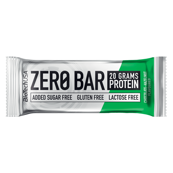 Biotech USA Zero Bar Schokolade-Haselnuss Proteinriegel, zuckerfrei & Whey Isolat Protein. Zero Bar Biotech kaufen. Eiweißriegel: 45% Eiweiß / 20g Protein!