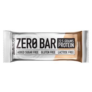 Biotech USA Zero Bar Cappuccino Proteinriegel 50 g. Zuckerfreier Low Carb Riegel. Whey Isolat Protein. Zero Bar Biotech Eiweißriegel mit 20g Protein / Whey!