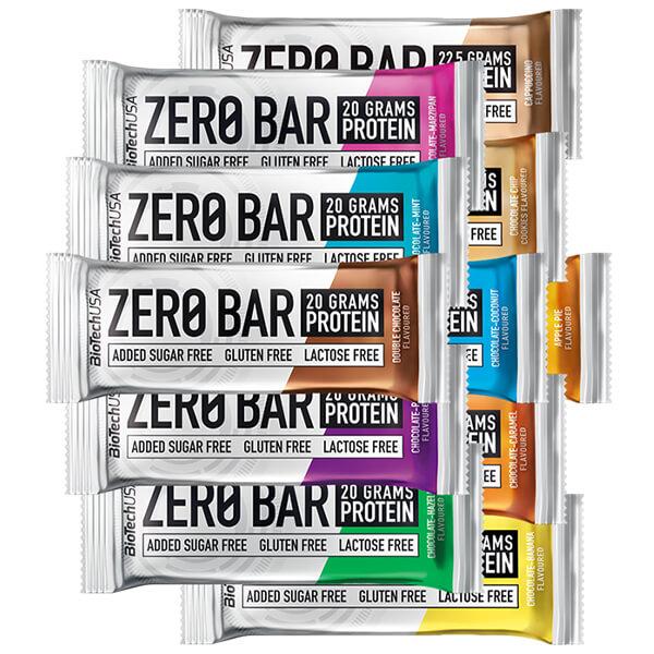 Biotech USA Zero Bar Schokolade-Kokos Proteinriegel 50 g, Zero Bar Kokos Protein Riegel