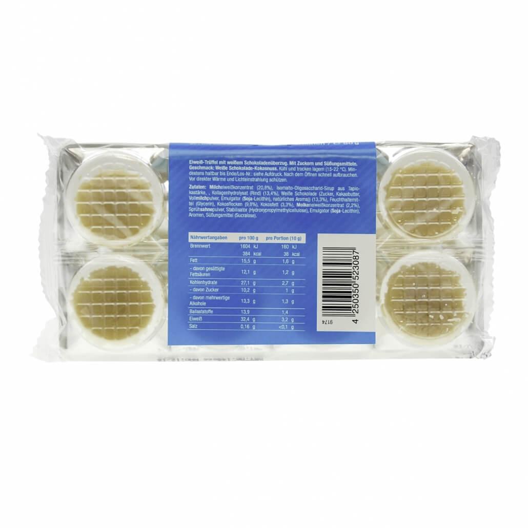 """Body Attack Protein Low Carb Truffles Trüffelpralinen """"Weiße Schokolade-Kokos"""" 80 g"""