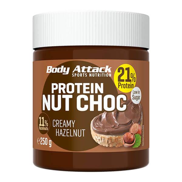 Body Attack Protein Schoko-Aufstrich Nut Choc Creamy Hazelnut. Low Carb Schokoaufstrich > Protein! Eiweißreicher Haselnuss Brotaufstrich ohne Zucker kaufen