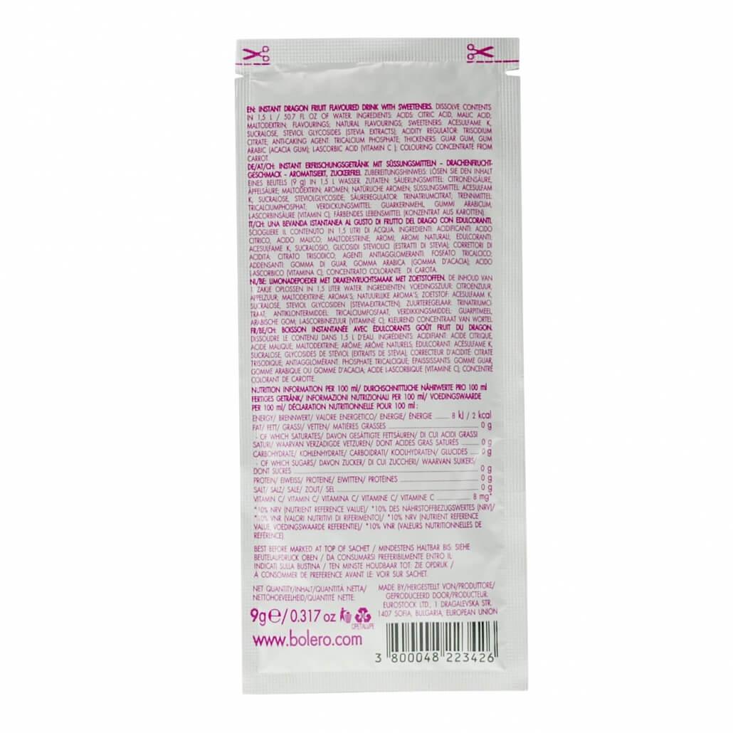 """Bolero Instant Erfrischungsgetränkepulver 9 g Beutel Exotic """"Dragon Fruit"""" (Drachenfrucht) für 1,5 l fertiges Getränk"""