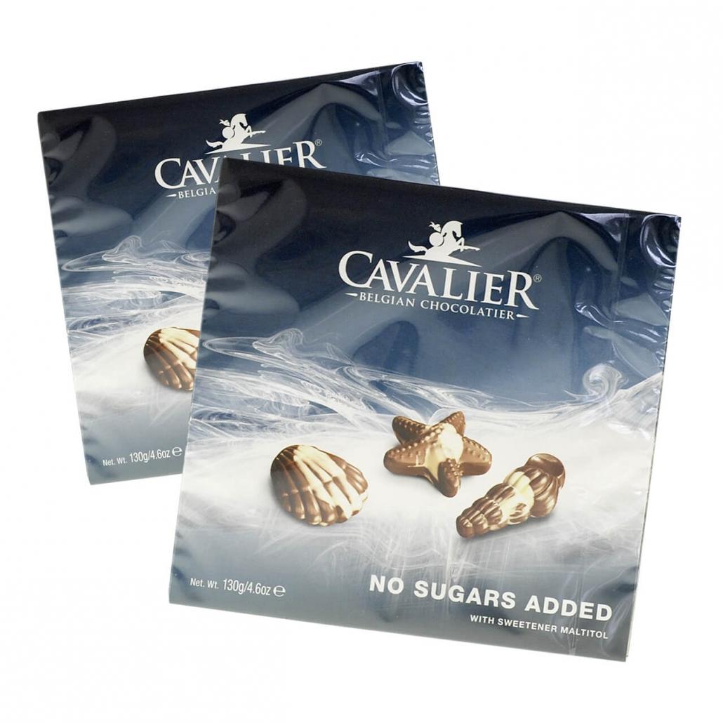 Cavalier Nuss-Nougat Meeresfrüchte zuckerfreie Pralinen 130 g. Zuckerfreie Pralinen, Zuckerfreie Süßigkeiten. Pralinen ohne Zucker kaufen.