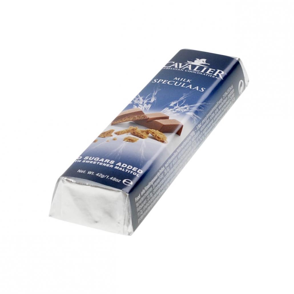 """Cavalier Schokoriegel """"Milch Spekulatius"""" 42 g. Zuckerfreie Schokolade, Low Carb Schokolade kaufen."""
