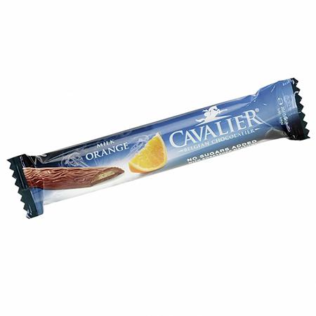 """Cavalier Woodies """"Milch-Orange"""" Schokoladenstick mit knuspriger Waffel 20 g"""