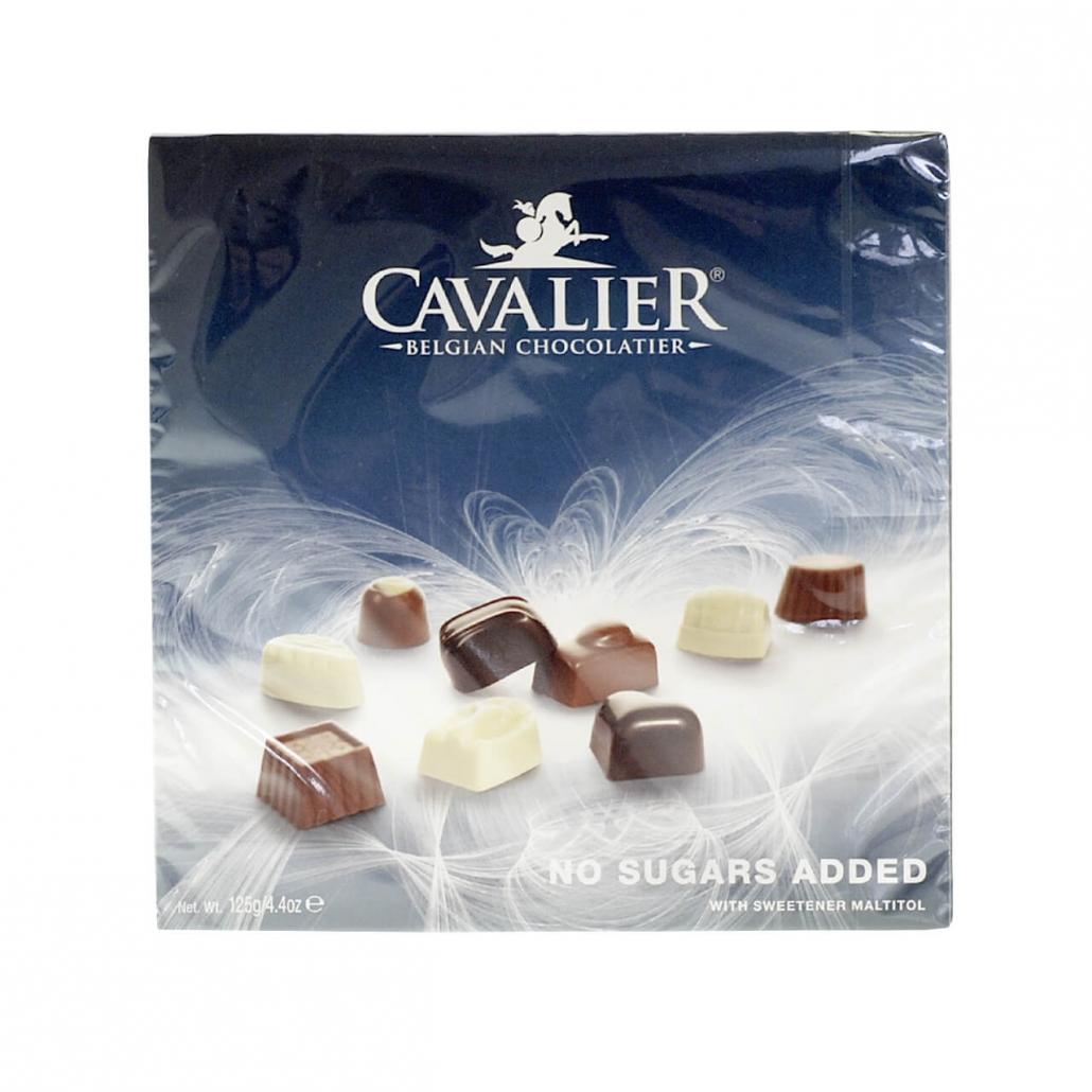 Cavalier zuckerfreie belgische Pralinen - Sortiment 125 g, zuckerfreie Schokolade. Schokolade ohne Zucker. Pralinen ohne Zucker. zuckerfreie Pralinen.