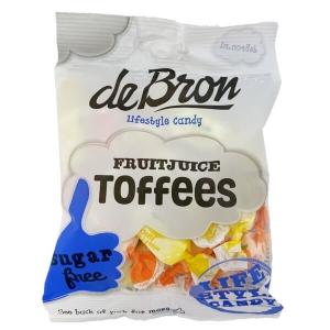 De Bron zuckerfreie Fruchtsaft Toffees 90 g, Toffees kaufen, Toffees bestellen, Toffees ohne Zucker bestellen. Frucht Toffees kaufen. Frucht Toffees online kaufen.