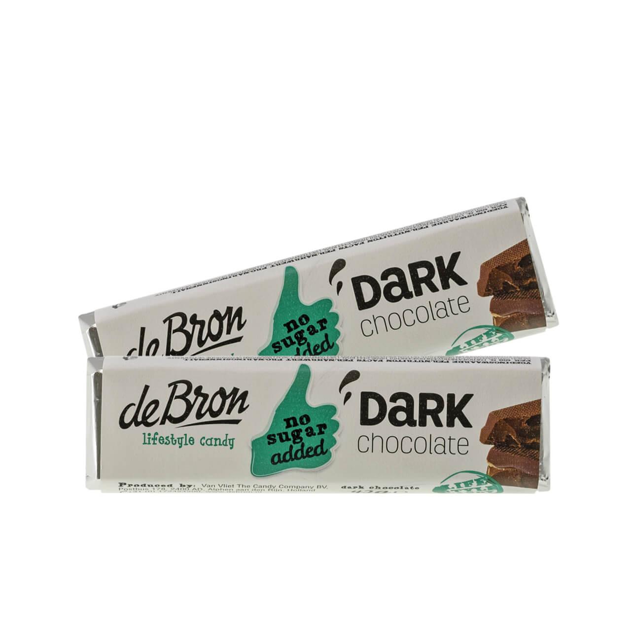 De Bron Low Carb Schokoriegel Zartbitter 42 g. Zuckerfreie Schokolade, Low Carb Schokolade kaufen.