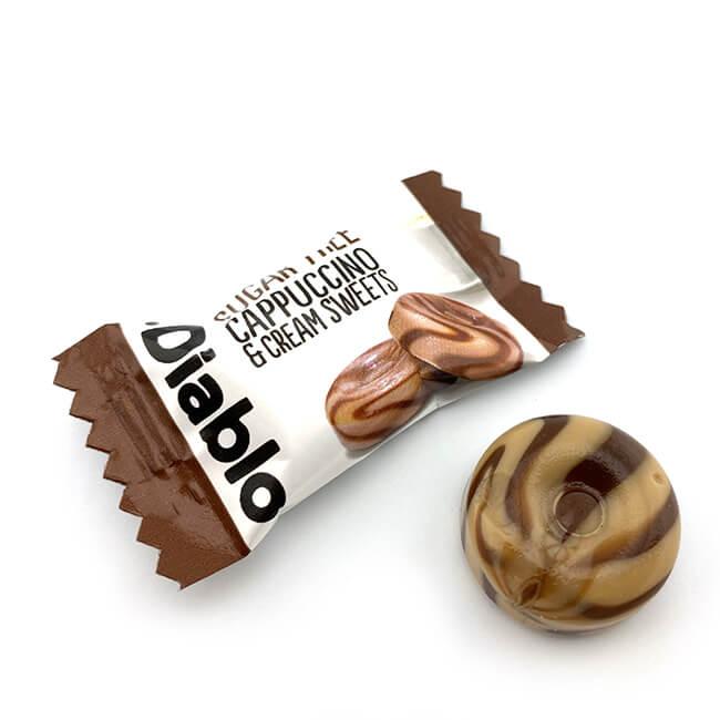 Diablo zuckerfreie Bonbons Cappuccino Sahne 75 g. Zuckerfreie Bonbons kaufen