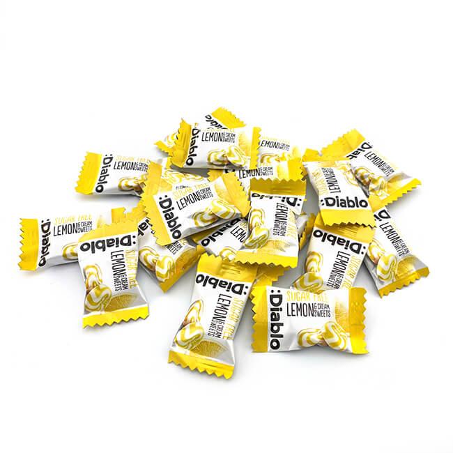 Diablo zuckerfreie Bonbons Zitrone-Sahne 75 g, zuckerfreie Bonbons online kaufen. Sahne Bonbons kaufen im Shop. Online Sahne Bonbons kaufen