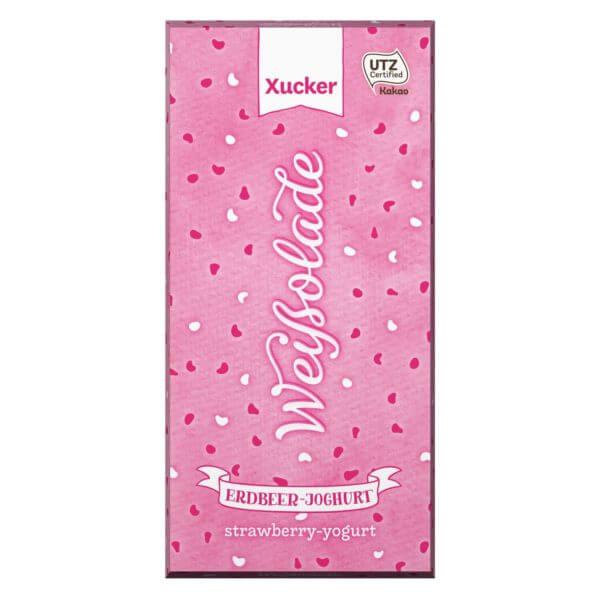 Erdbeer-Joghurt-Schokolade mit Xylit 100 gr. Tafel