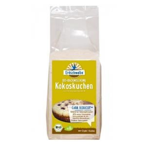 Erdschwalbe Kokoskuchen -Backmischung glutenfrei 220 g Beutel. Low Carb Kuchen im Shop kaufen. LCHF, Low Carb Kokoskuchen im Zucker-frei Shop online kaufen