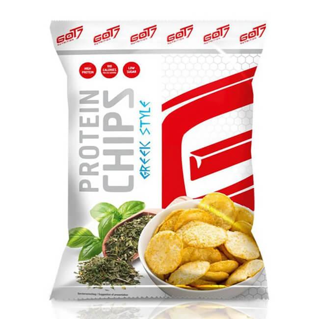 GOT7 High Protein Chips Greek Style Beutel 50g. Protein Chips online kaufen! Fitnesssnack mit 40% Protein! GOT7 High Protein Chips Greek Style online kaufen