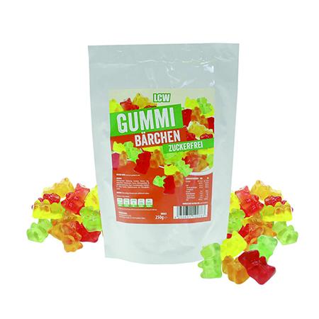LCW Gummibärchen 250 g. Ohne Zucker Zusatz. Gummi Bärchen von LCW kaufen. Kalorien arme Low Carb Gummi Bärchen von LCW im Zucker-frei Online Shop kaufen!
