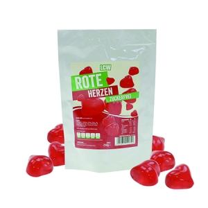 LCW Rote Herzen 250 g. Low Carb Fruchtgummi, Low Carb Süßigkeiten kaufen. Low Carb Fruchtgummis von LCW in hübscher Herzform mit nur 0,03 g Zucker / Portion