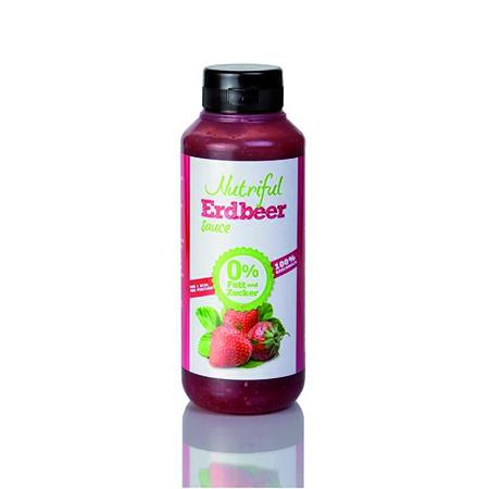 Nutriful Erdbeer Dessertsauce 265 ml. Zuckerfreie Low Carb Dessertsauce kaufen. 0% Fett, 0% Zucker (zuckerfrei). Dessertsauce ideal für Low Carb. Im Shop