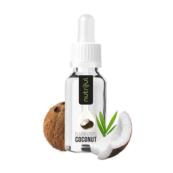 Nutriful Flavor Drops Kokosnuss 30 ml ★ Nutriful Flavor Drops online günstig kaufen. Süßsstoff für Getränke & Speisen! Kalorien freies Geschmacks Konzentrat