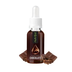 Nutriful Flavor Drops Schokolade 30 ml, Nutriful Flavor Drops ohne Zucker, Low Carb. Kalorienfreies verfeinern von Speisen & Getränken! Ohne Kohlenhydrate!