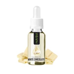 Nutriful Flavor Drops Weiße Schokolade - kalorienfreies Geschmackskonzentrat aus Aroma & Süßstoff zum Verfeinern von Speisen & Getränken online kaufen!
