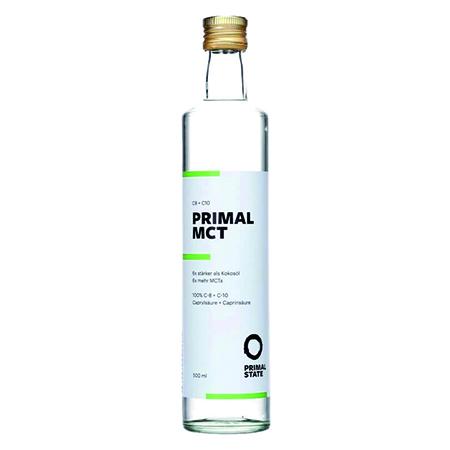 Primal State PRIMAL MCT ÖL, MTC Öl, MCT Öl kaufen, Primal State PRIMAL MCT ÖL (Kokosextrakt) 500 ml Glasflasche