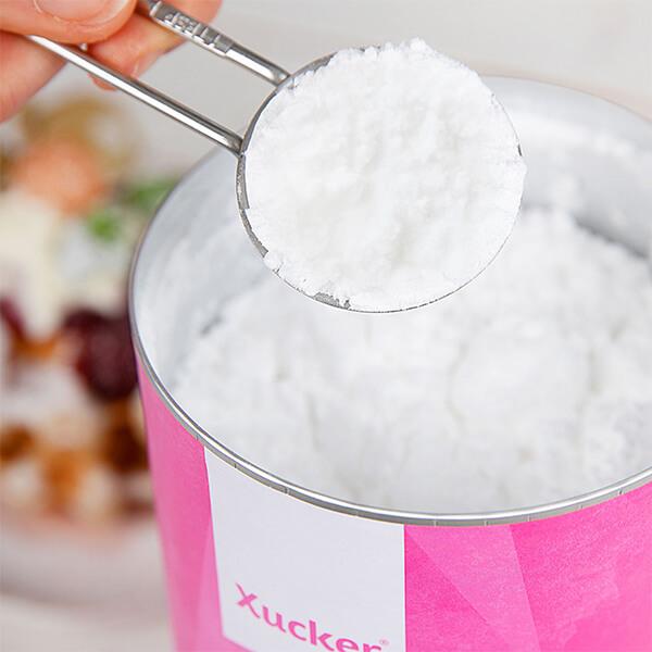 Puder-Xucker (Erythrit) - Tafelsüße in Puderform auf Grundlage von Erythrit 600 gr. Dose. Puderxucker Xucker, Xucker Staubzucker ohne Zucker kaufen. Puder Xucker bestellen