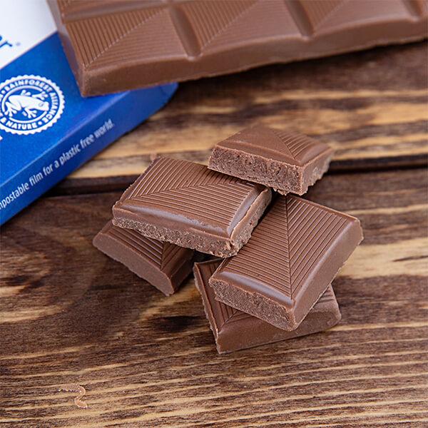 """Vollmilchschokolade """"Xukkolade"""" mit Xylit gesüßt 100 gr. Tafel. Vollmilch Schokolade ohne Zucker kaufen. Zuckerfreie Schokolade kaufen. Xukkolade kaufen."""