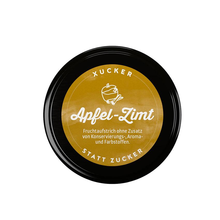 XUCKER Apfel-Zimt-Fruchtaufstrich 74% mit Xylit 220 g Glas