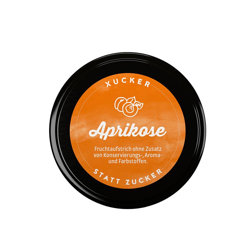 XUCKER Aprikose Fruchtaufstrich 74% mit Xylit 220 g Glas
