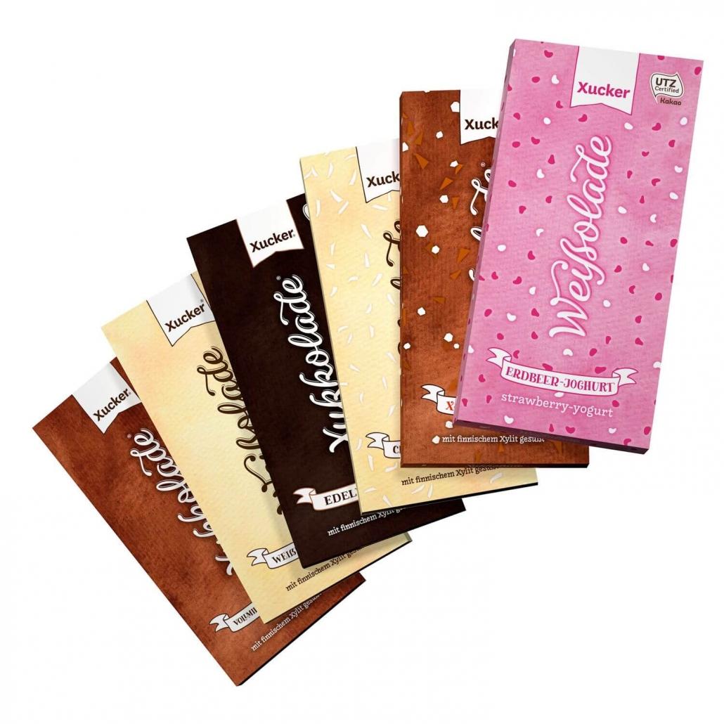 Xylit-Edelbitterschokolade mit 75% Kakaoanteil 100 gr. Tafel