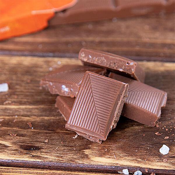 """Xylit-Schokolade mit Salz und Karamell (""""Xalty Xaramel"""") 100 gr. Tafel"""