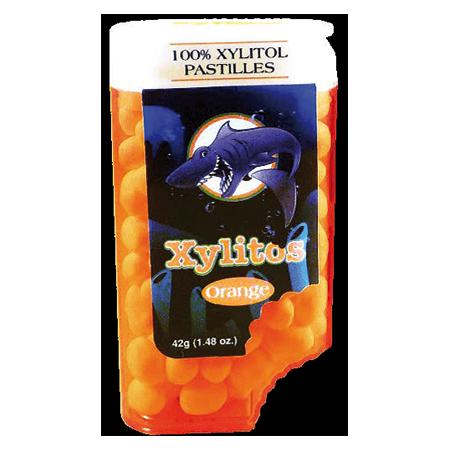 Xylitos Orange kaufen. Xylitos Bonbons mit fruchtigem Orangengeschmack kaufen. Ohne Aspartam. Ohne Zucker. Gesüßt mit Xylit. Xylit Bonbons kaufen!