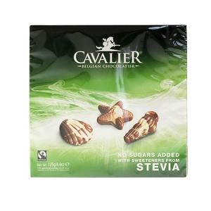 Cavalier Stevia Pralinen Nuss Nougat Meeresfrüchte 125 g online kaufen. Zuckerfreie Schokolade von Cavalier. Cavalier Pralinen Stevia online kaufen!