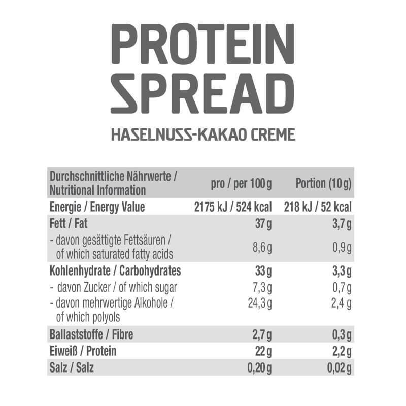 GOT7 Protein Spread Hazelnut Cocoa 200 g. Protein Aufstrich kaufen Inhaltsstoffe