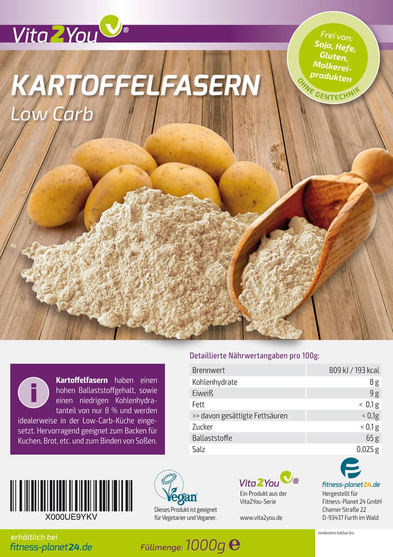 Kartoffelfasern Vita 2 You 1000 g Beutel. Kartoffelfasern kaufen, Kartoffelfasern online bestellen