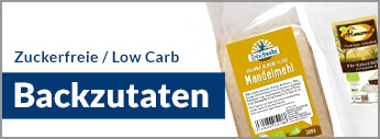 LCHF, Low Carb High Fat, Low Carb Backzutaten