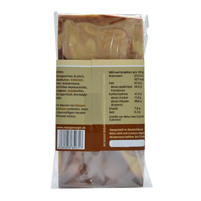 Zuckerfreie Schokolade mit Erythrit gesüßt! 100 g Tafel