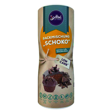 Low Carb Backmischung Schoko Soulfood LowCarberia 300 g. Low Carb Kuchen kaufen, ohne Zucker gesüßt mit Xylit (Birkenzucker). Low Carb Shop